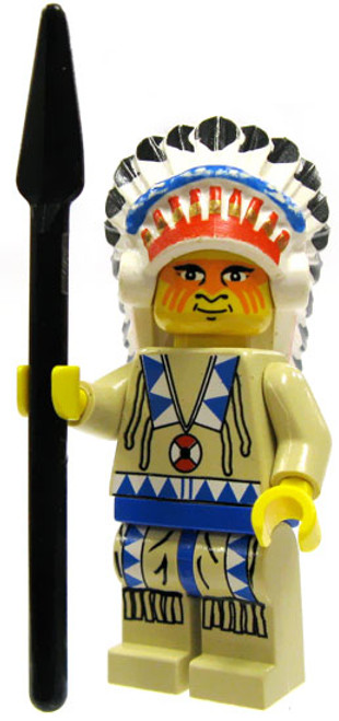 LEGO Loose Indian Chief Minifigure [Blue Loose]