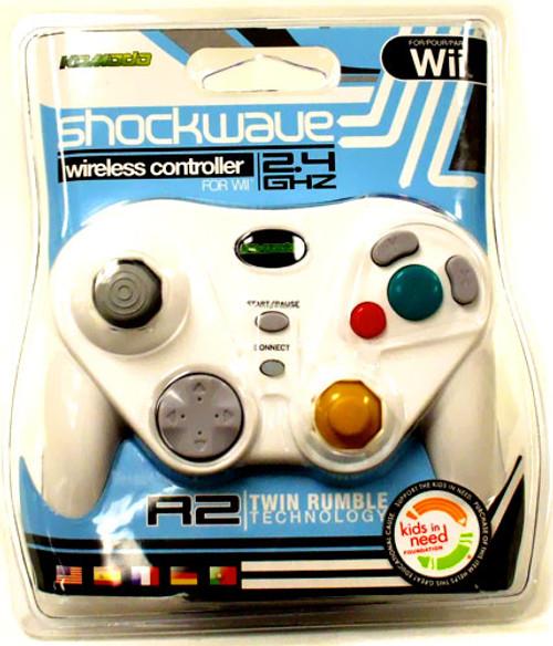 Nintendo Wii Shockwave Wireless Video Game Controller [White]