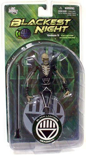 DC Green Lantern Blackest Night Series 5 Black Lantern Deadman Action Figure
