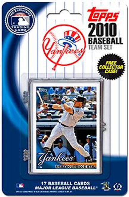 MLB 2010 Topps Baseball Cards New York Yankees Exclusive Team Set