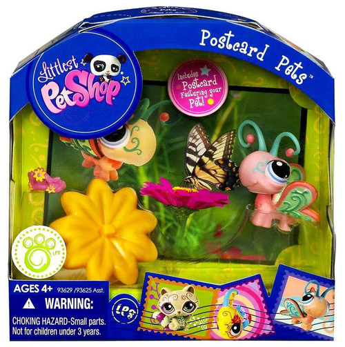 Littlest Pet Shop Postcard Pets Series 3 Butterfly Figure