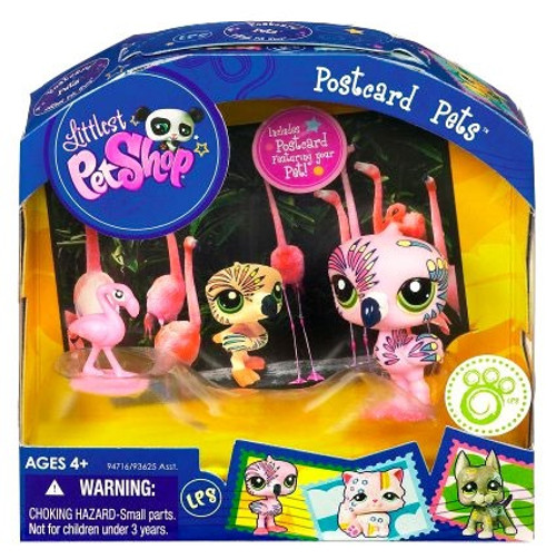 Littlest Pet Shop Postcard Pets Series 5 Flamingo Figure