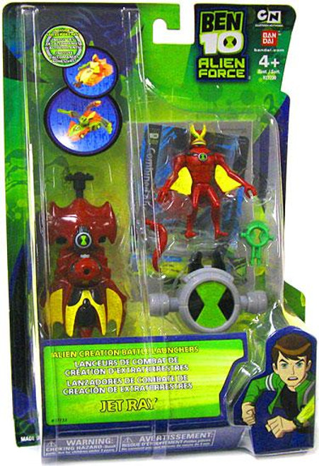 Ben 10 Alien Force Alien Creation Battle Launchers Jet Ray Action Figure
