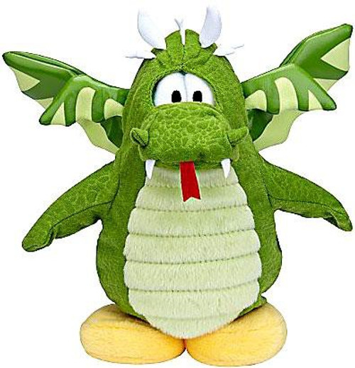 Club Penguin Series 6 Green Dragon 6.5-Inch Plush Figure [Version 2]