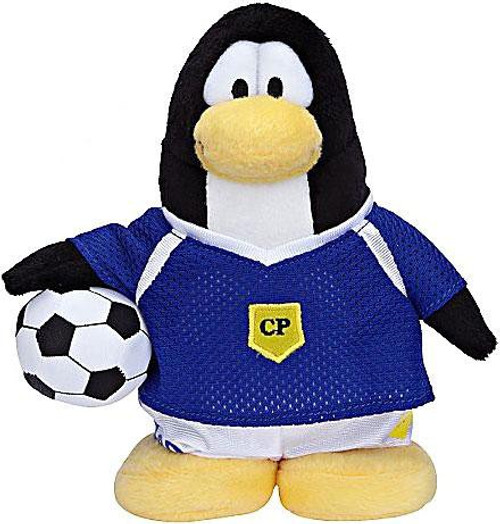 Club Penguin Series 6 Boy Soccer Player 6.5-Inch Plush Figure [Purple Jersey]