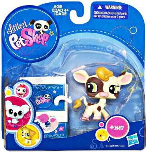 Littlest Pet Shop 2010 Assortment A Series 3 Cow Figure #1457 [Milk Container]
