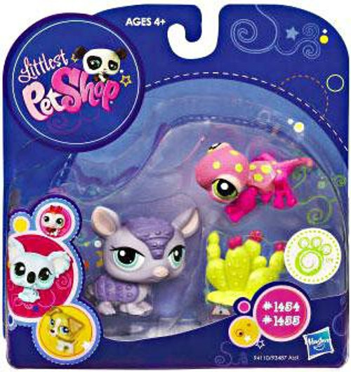 Littlest Pet Shop 2010 Assortment A Series 3 Armadillo & Gecko Figure 2-Pack #1454, 1455 [Cactus]