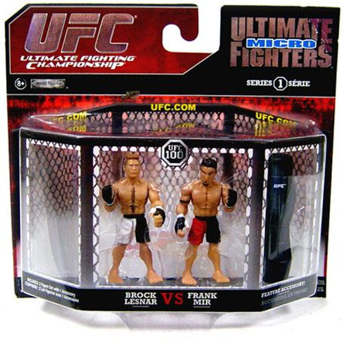 UFC Ultimate Micro Fighters Series 1 Brock Lesnar vs. Frank Mir Mini Figure 2-Pack [UFC 100]