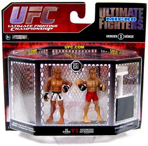 UFC Ultimate Micro Fighters Series 1 BJ Penn vs. Georges St. Pierre Mini Figure 2-Pack [UFC 58]