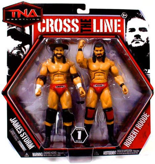 TNA Wrestling Cross the Line Series 1 James Storm & Robert Roode Action Figure 2-Pack
