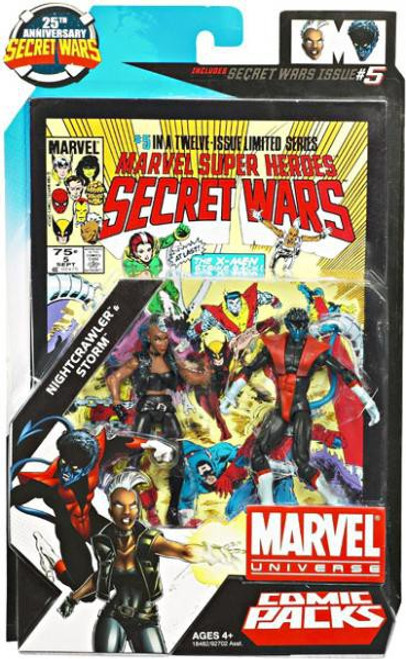 Marvel Universe 25th Anniversary Secret Wars Comic Packs Nightcrawler & Storm Action Figure 2-Pack #5