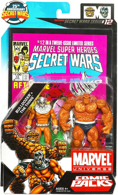 Marvel Universe 25th Anniversary Secret Wars Comic Packs Bulldozer & The Thing Action Figure 2-Pack #12