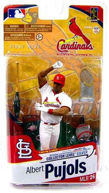 McFarlane Toys MLB St. Louis Cardinals Sports Picks Series 26 Albert Pujols Action Figure [White Jersey With Trophy]