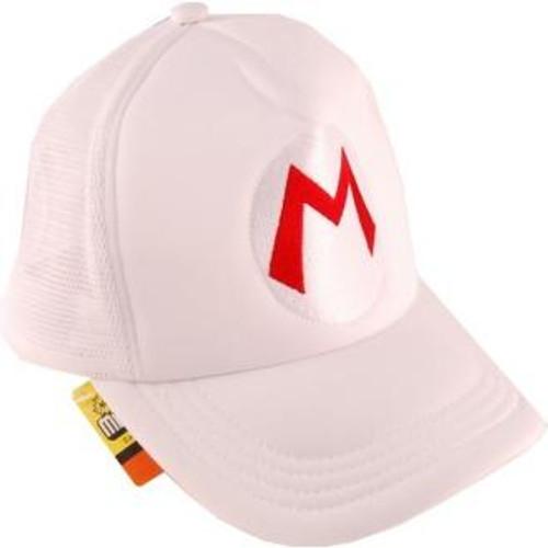 Super Mario Mario 36-Inch Baseball Cap [White]