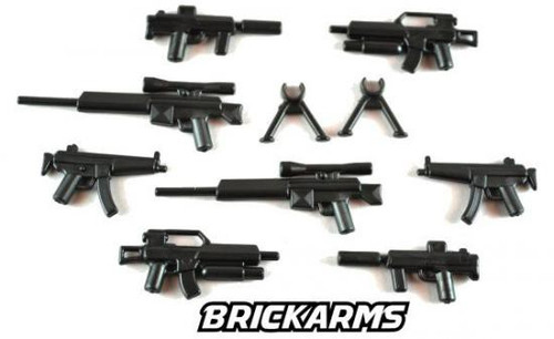 BrickArms Modern Combat 2.5-Inch Weapons Pack [Black]