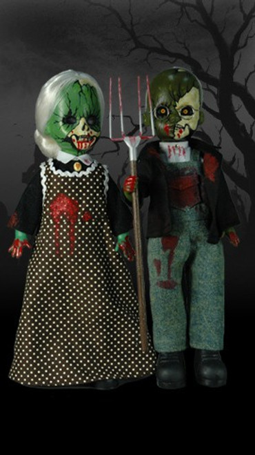 Living Dead Dolls American Gothic Doll 2-Pack [Bloody Version]