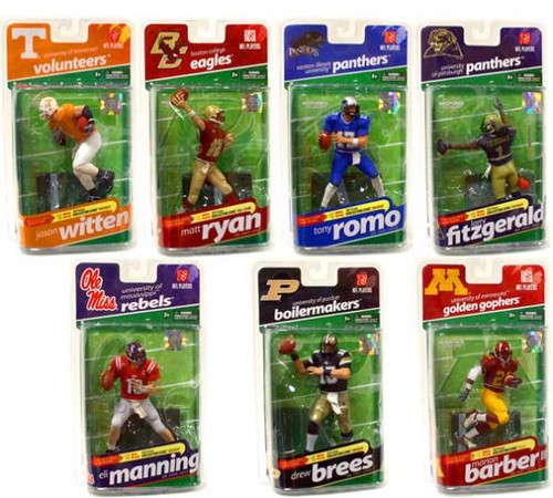 McFarlane Toys NCAA College Football Sports Picks NCAA Sports Picks Series 2 Set of 7 Action Figures