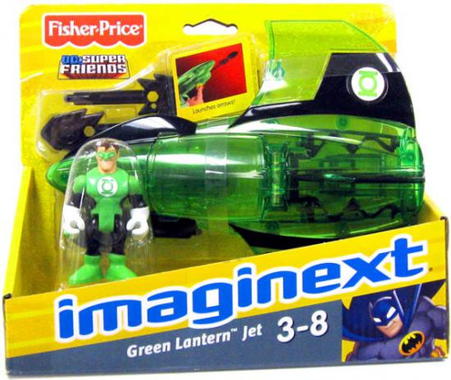 Fisher Price DC Super Friends Imaginext Green Lantern Jet 3-Inch Figure Set