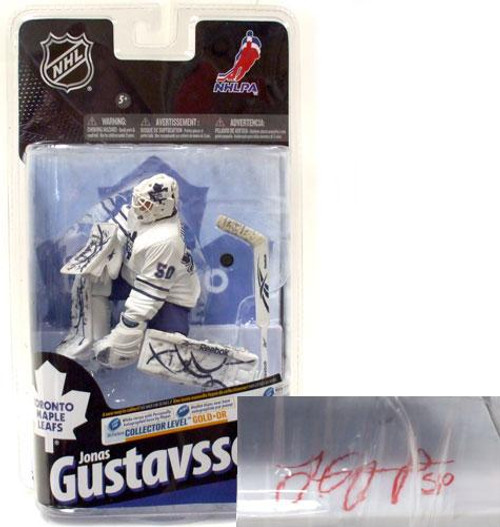 McFarlane Toys NHL Toronto Maple Leafs Sports Picks Series 24 Jonas Gustavsson Action Figure [White Jersey with Signature]