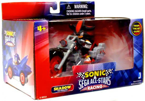 Sonic The Hedgehog Sega All-Stars Racing Shadow with Dark Rider Motorcycle 3.5-Inch Figure Vehicle