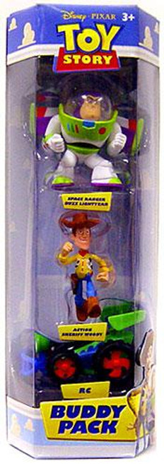 Toy Story Buddy Pack Space Ranger Buzz Lightyear, Action Sheriff Woody & RC Mini Figure 3-Pack