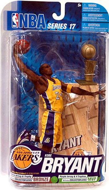 McFarlane Toys NBA Los Angeles Lakers Sports Picks Series 17 Kobe Bryant Action Figure [Yellow Jersey & Trophy]