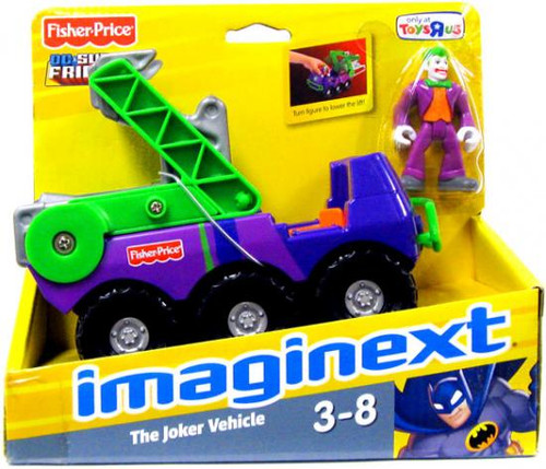 Fisher Price DC Super Friends Batman Imaginext Joker with Vehicle Exclusive 3-Inch Figure Set
