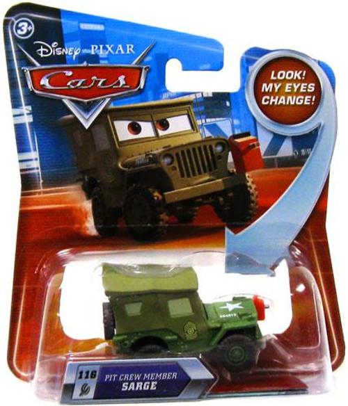 Disney Cars Lenticular Eyes Series 2 Pit Crew Member Sarge Diecast Car