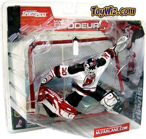 McFarlane Toys NHL New Jersey Devils Sports Picks Series 1 Martin Brodeur Action Figure [Plain White Water Bottle]