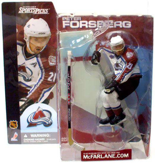 McFarlane Toys NHL Colorado Avalanche Sports Picks Series 1 Peter Forsberg Action Figure