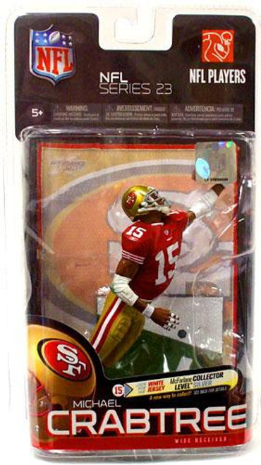 McFarlane Toys NFL San Francisco 49ers Sports Picks Series 23 Michael Crabtree Action Figure [Red Jersey]