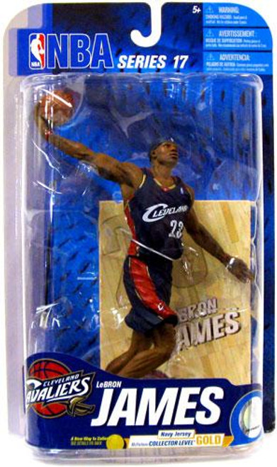 McFarlane Toys NBA Cleveland Cavaliers Sports Picks Series 17 Lebron James Action Figure [Navy Blue Jersey, ]