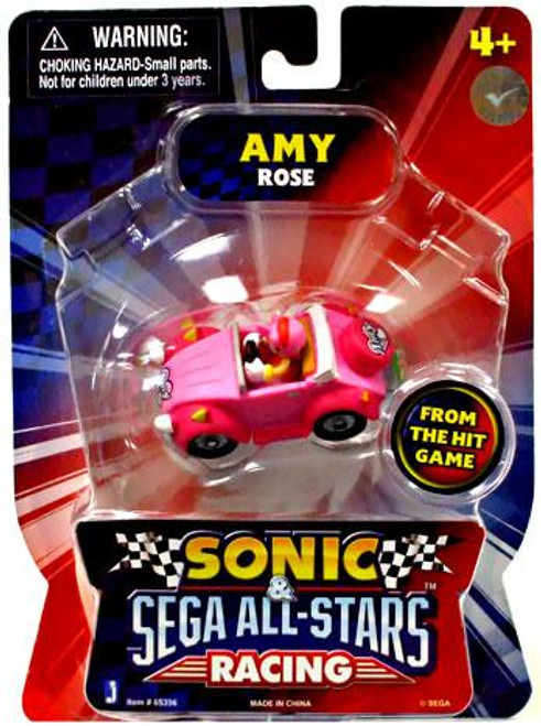 Sonic The Hedgehog Sega All-Stars Racing Amy Rose 1 1/2-Inch Figure Vehicle