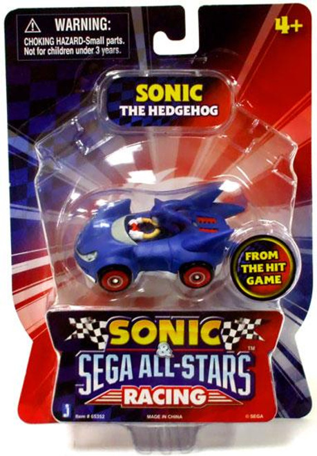 Sonic The Hedgehog Sega All-Stars Racing Sonic 1 1/2-Inch Figure Vehicle