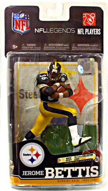 McFarlane Toys NFL Pittsburgh Steelers Sports Picks Legends Series 6 Jerome Bettis Action Figure [Black Jersey]