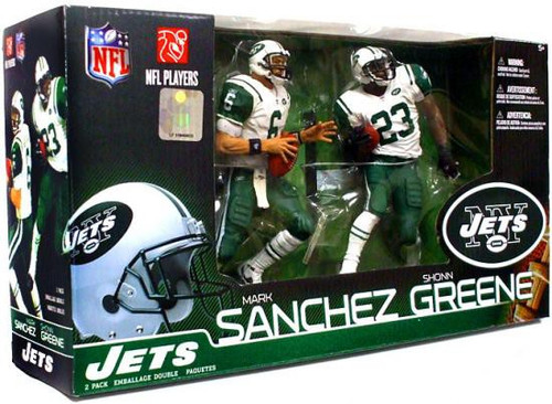 McFarlane Toys NFL New York Jets Sports Picks 2-Packs Mark Sanchez & Shonn Greene Action Figure 2-Pack