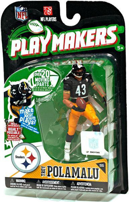McFarlane Toys NFL Pittsburgh Steelers Playmakers Series 1 Troy Polamalu Action Figure