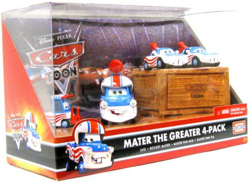 Disney Cars Cars Toon Multi-Packs Mater the Greater 4-Pack Diecast Car Set [Set #3]