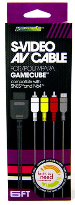 Nintendo Gamecube AV Audio / Video/ S-Video Cable