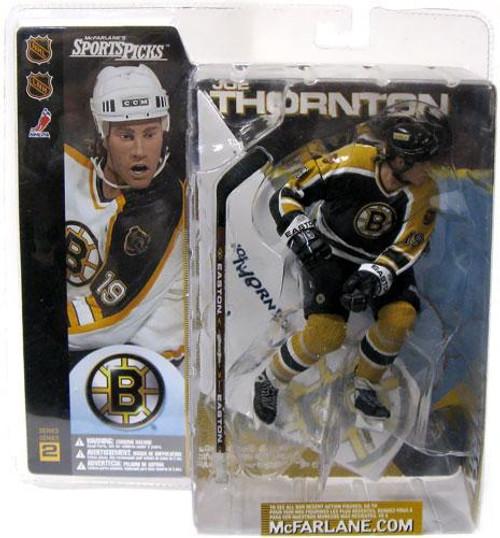 McFarlane Toys NHL Boston Bruins Sports Picks Series 2 Joe Thornton Action Figure [Black Jersey]