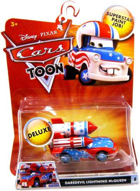 Disney Cars Cars Toon Deluxe Oversized Daredevil Lightning McQueen Diecast Car