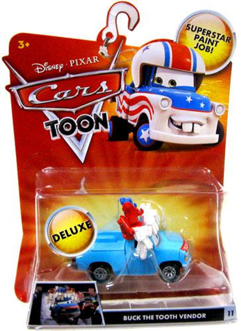 Disney Cars Cars Toon Deluxe Oversized Buck the Tooth Vendor Diecast Car