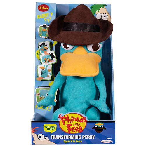 Disney Phineas and Ferb Transforming Perry Plush [Agent P to Perry]