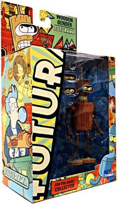 Futurama Series 9 Bender Action Figure [Wooden]