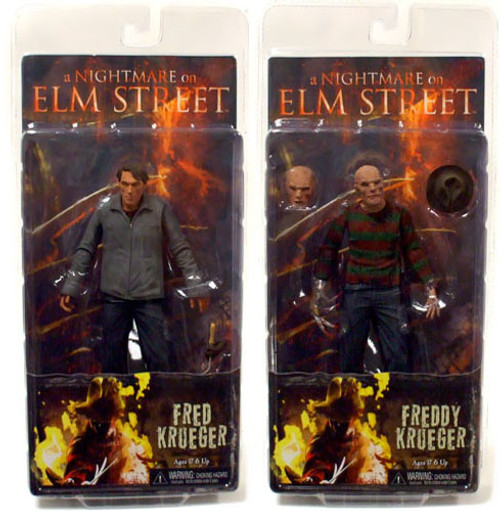 NECA A Nightmare on Elm Street Set of Both Freddy Krueger Action Figures
