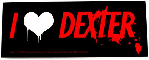 I Heart Dexter Rub On Sticker
