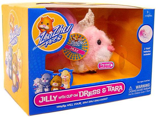 Zhu Zhu Pets Jilly Hamster Toy [With Clip On Dress & Tiara]