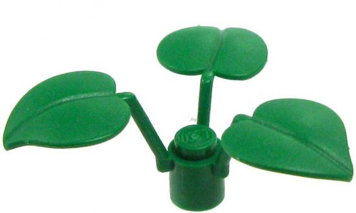 LEGO Plants Dark Green Fern with 3 Large Leaves [Loose]