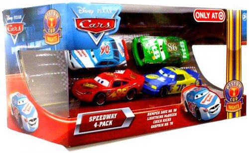 Disney Cars Multi-Packs Speedway 4-Pack Exclusive Diecast Car Set [Bumper Save]