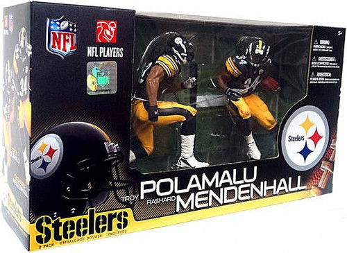 McFarlane Toys NFL Pittsburgh Steelers Sports Picks Rashard Mendenhall & Troy Polamalu Action Figure 2-Pack